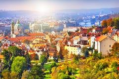 Château de Prague de panorama Image libre de droits