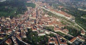 Château de Prague, vue aérienne, Prague banque de vidéos