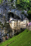 Château de Predjama Image stock