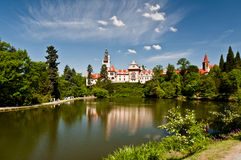 Château de Pruhonice, République Tchèque Photographie stock