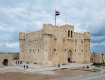 Château de Qaitbay, l'Alexandrie, Egypte Photos stock
