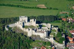 Château de Rabi - photo d'air Photos stock