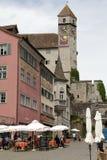 Château de Rapperswil comme vu de la place Photo stock