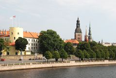 Château de Riga Images libres de droits