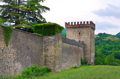 Château de Riva Dell'Olio de Ponte Émilie-Romagne l'Italie Photographie stock