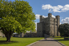Château de Rochester dans Kent, R-U Photos stock