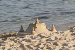 Château de sable Photos stock