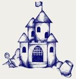 Château de sable Image stock