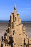 Château de sable au Jersey Photographie stock