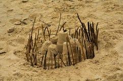 Château de sable de forteresse Photographie stock