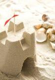 Château de sable sur la plage Photographie stock