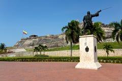 Château de San Felipe de Barajas à Carthagène Images libres de droits