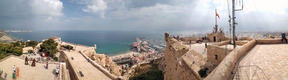Château de Santa Barbara Ville d'Alicante Costa Blanca l'espagne Images libres de droits