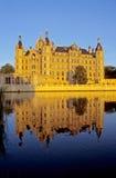 Château de Schwerin en soirée Images libres de droits