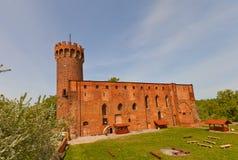 Château de Schwetz (1350) d'ordre Teutonic Swiecie, Pologne Images libres de droits