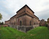 Château de Sforza à Milan Photos stock