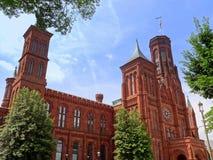 Château de Smithsonien dans le Washington DC Images stock