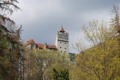 Château de son, borne limite de la Roumanie Photos stock