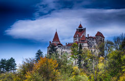 Château de son, image d'automne de HDR images stock