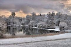 Château de Spremberg en hiver Photos libres de droits