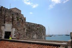 Château de St Peter dans Bodrum avec des touristes Photographie stock