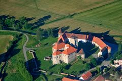 Château de Svihov - photo d'air Photos stock