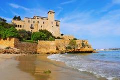Château de Tamarit à Tarragone, Espagne Images libres de droits