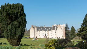Château de tambour, jardin arrière, Ecosse Photographie stock