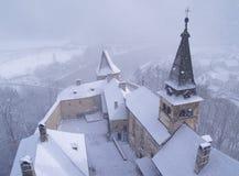 château de tempête de neige plus de image libre de droits