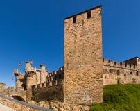 Château de Templar, construit au 12ème siècle Ponferrada Photographie stock libre de droits