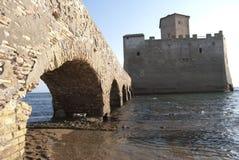 Château de Torre Astura Photographie stock