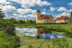 Château de Tosterup en Suède Image libre de droits