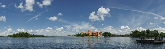 Château de Trakai, Lithuanie, l'Europe Photographie stock libre de droits