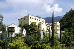 Château de Trauttmansdorff dans Merano images stock