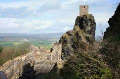 Château de Trosky dans la République Tchèque Images libres de droits