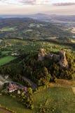 Château de Trosky dans le paradis de Bohème photo stock