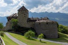 Château de Vaduz dans la fin de Liectenstein  photographie stock