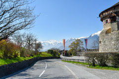 Château de Vaduz - la Liechtenstein Photographie stock