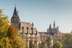Château de Vajdahunyad en parc Budapest, Hongrie de ville Photo stock