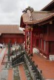 Château de visite de Shuri Photo stock