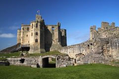 Château de Warkworth Images libres de droits