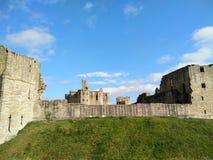 Château de Warkworth, le Northumberland photos stock