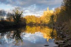 Château de Warkworth reflété Image libre de droits