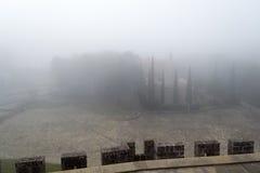 Château de Xavier un jour brumeux (Espagne) Photos libres de droits