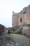 Château de Xavier un jour brumeux (Espagne) Photos stock