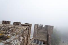 Château de Xavier un jour brumeux (Espagne) Photo stock