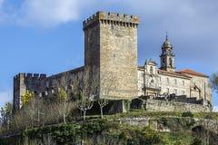 Château des comptes de lemos en Monforte de Lemos images stock