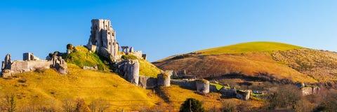 Château Dorset Angleterre de Corfe Images stock