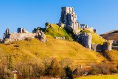 Château Dorset Angleterre de Corfe Photo stock