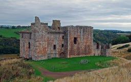 Château du 15ème siècle écossais, château de Crichton Images libres de droits